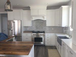 White bright custom kitchen