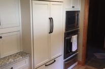 White Cabinets with Dark Hardware