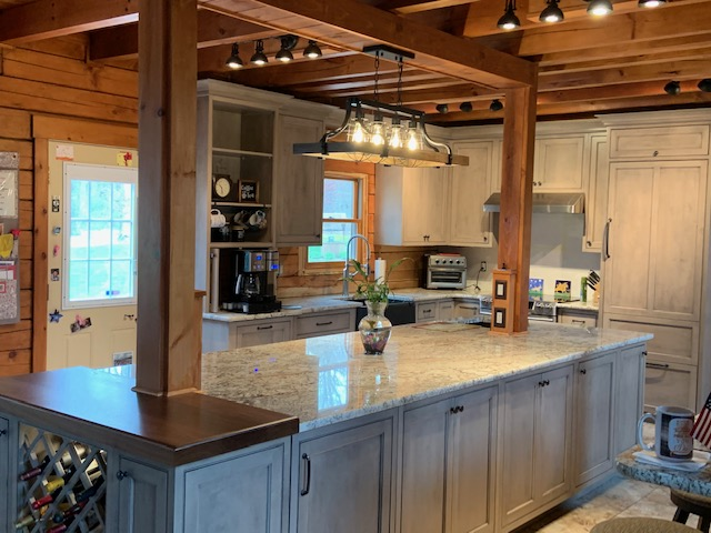 Log Cabin Kitchen Island