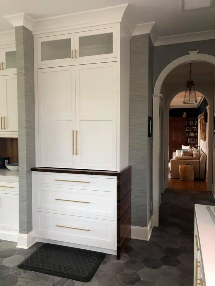 Large White Cabinets